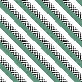 Retro Stripe Pattern With Navy Green, White, Black Parallel Stripe. Vector Pattern Stripe Abstract B poster