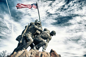 picture of corps  - Marine Corps War Memorial (also called the Iwo Jima Memorial) ** Note: Slight graininess, best at smaller sizes - JPG