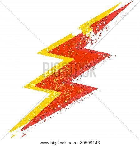 Grungy Lightning Bolt