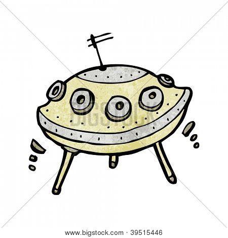 flying saucer cartoon