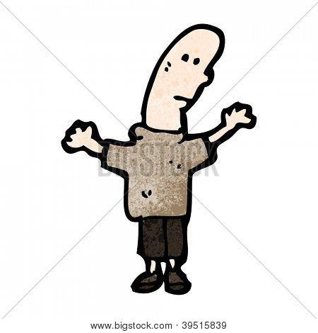 cartoon bald head man