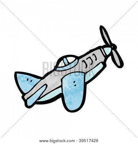 卡通螺旋桨飞机 库存矢量图和库存照片