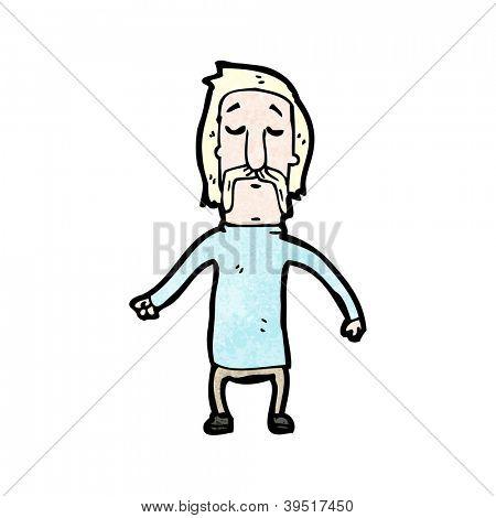 blond mustache man