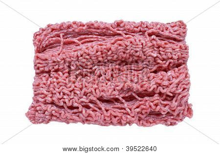 Minced Meat On White Background