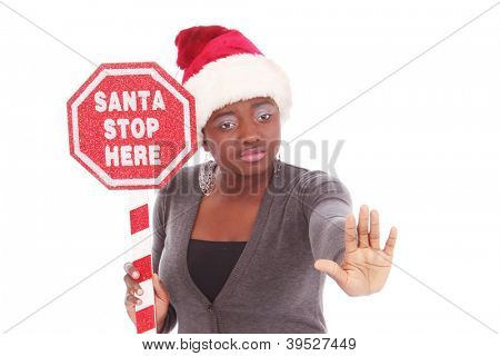 Young woman ready for Christmas