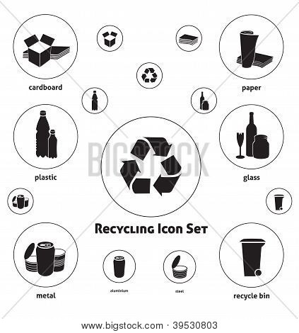 Recycling Icon Set