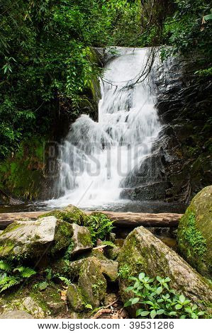 A Beautiful Waterfall In Northern Thailand