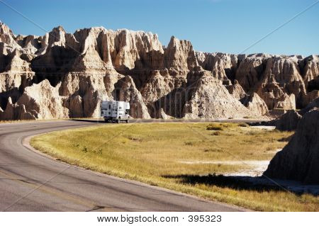 Camper In The Badlands