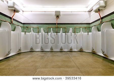 Old Fashioned Men's Urinals