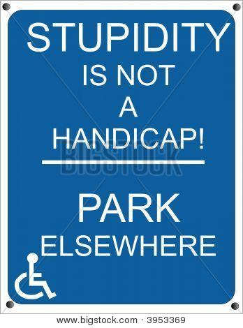 Señalización de handicap