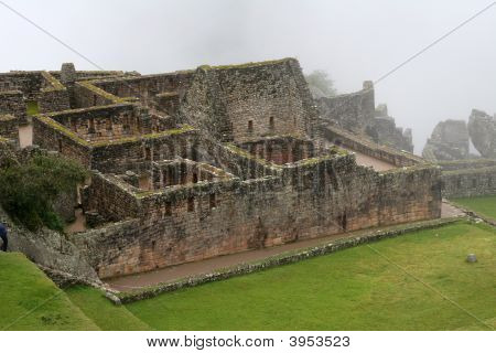 Ancient Ruins Of Machu Picchu, Peru