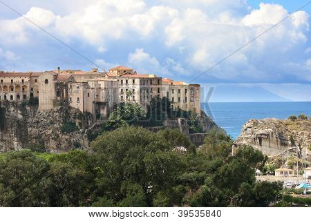 Tropea town on the rock, Calabria, Italy