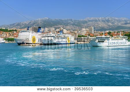 View of the port, Split town, Croatia
