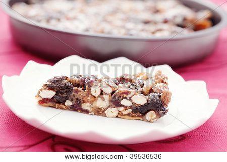 Christmas cake panforte - full of sweetmeats - sweet food