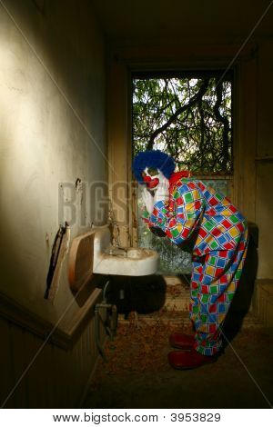 Even Scary Clowns Use The Bathroom