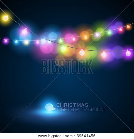 CHristmas fairy lights - vector illustration