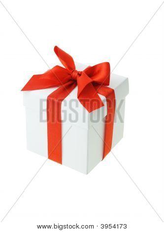 weiße Geschenk-box