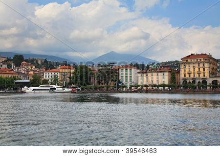 Embankment Of The City Of Lugano