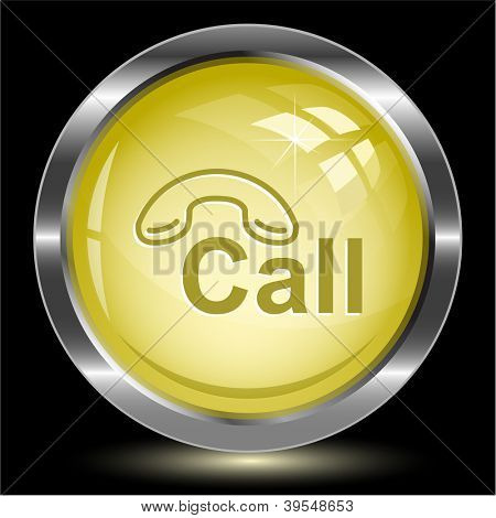 Hotline. Internet button. Vector illustration.