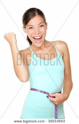 Weight Loss Concept Woman Happy