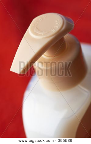 Shampoo Bottle In Macro