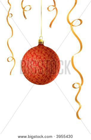 Vector Illustration Of Christmas Ball