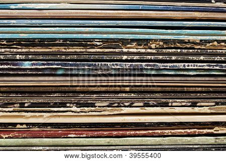 Vintage Stack of Records