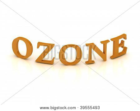 Ozone Sign With Orange Letters