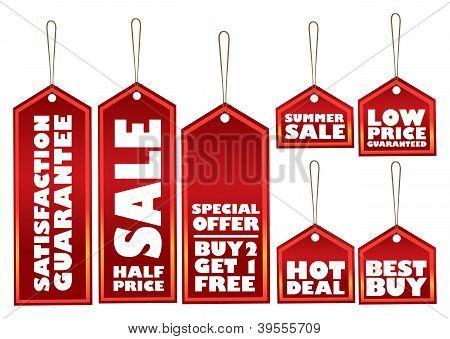 Rótulos de venda promocional