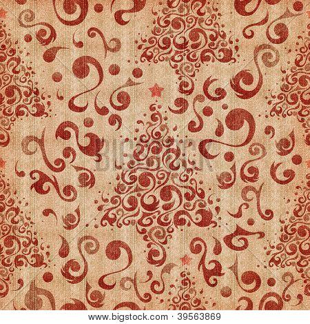 Christmas Tree Denim Pattern