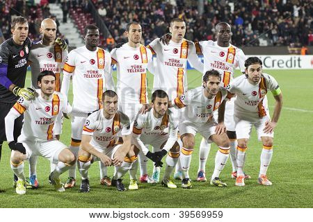 CLUJ-NAPOCA, ROMANIA - NOVEMBER 7: Galatasaray team posing, UEFA Champions League, CFR 1907 Cluj vs Galatasaray, Dr. C. Radulescu Stadium on 7 Nov., 2012 in Cluj-Napoca, Romania