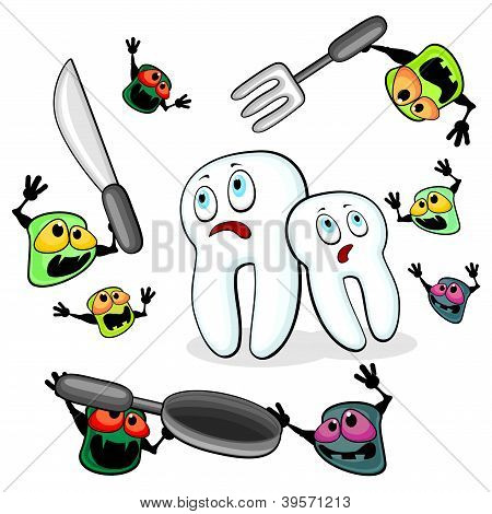 Germs Attacking Teeth