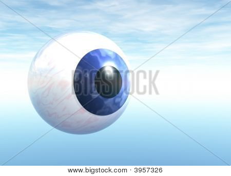 Blue Eyeball Floating