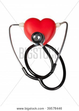 Stethoscope On Heart And Listening