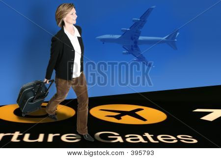 Woman At Airport