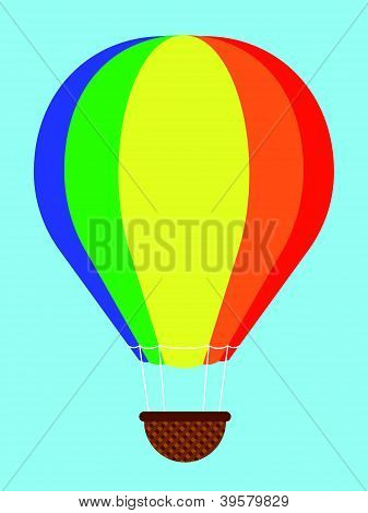 Coulourful hot-air balloon