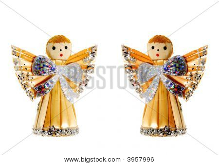 Straw Christmas Angels