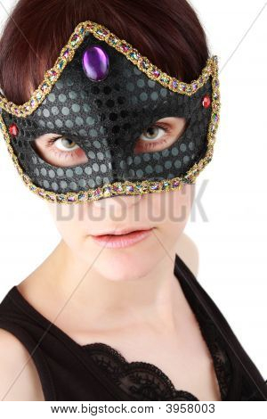 Woman With A Mask