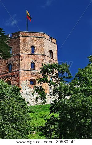 Gediminas Tower Is The Only Remaining Part Of The Upper Castle