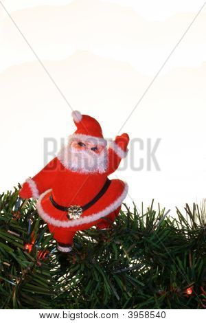 Santa Over White Vertical