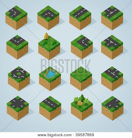 Pre Assembled Isometric world map
