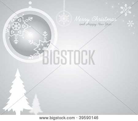 christmas grey card