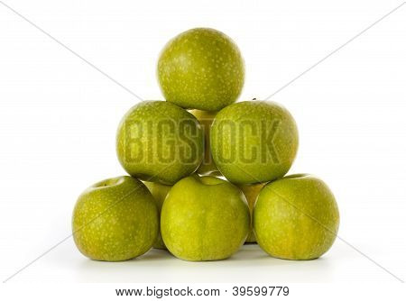 Stack Of Granny Smith Apples