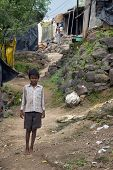 Indian Boy In Slum