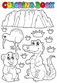 stock photo of crocodilian  - Coloring book Australian fauna 3  - JPG