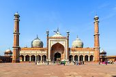 pic of masjid  - famous Jama Masjid Mosque in old Delhi India.