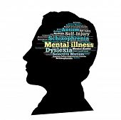 picture of dyslexia  - Mental illness in word collage - JPG