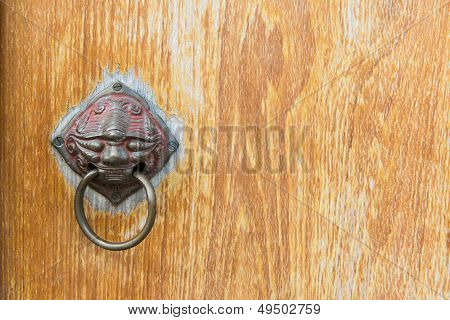 Old Vintage Chinese Temple Wooden Door