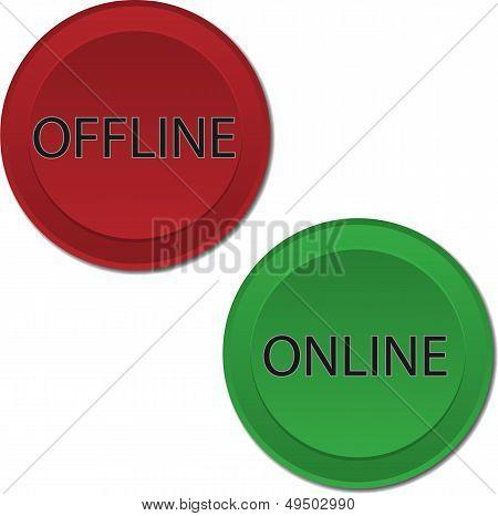 Online Offline buttons