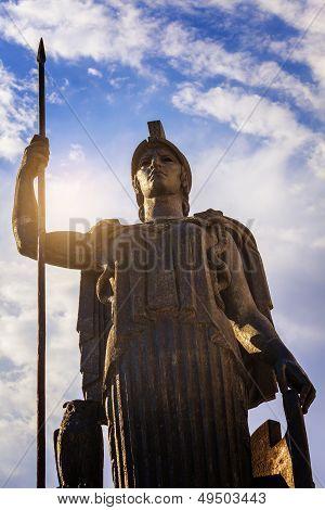 Minerva Statue In Madrid